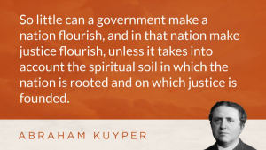 Kuyper championed reformation