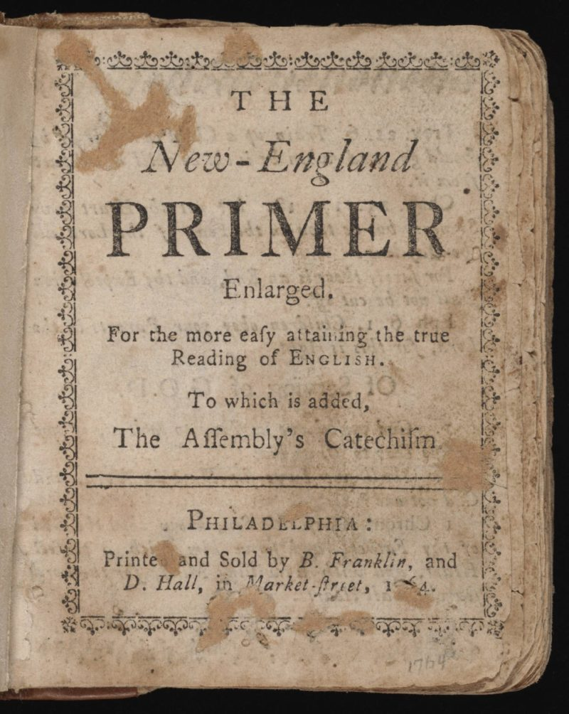 education in early America used the New England primer