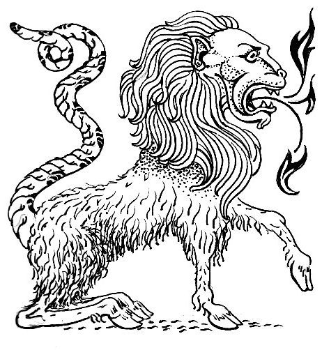 mythological chimera presages human animal hybrids