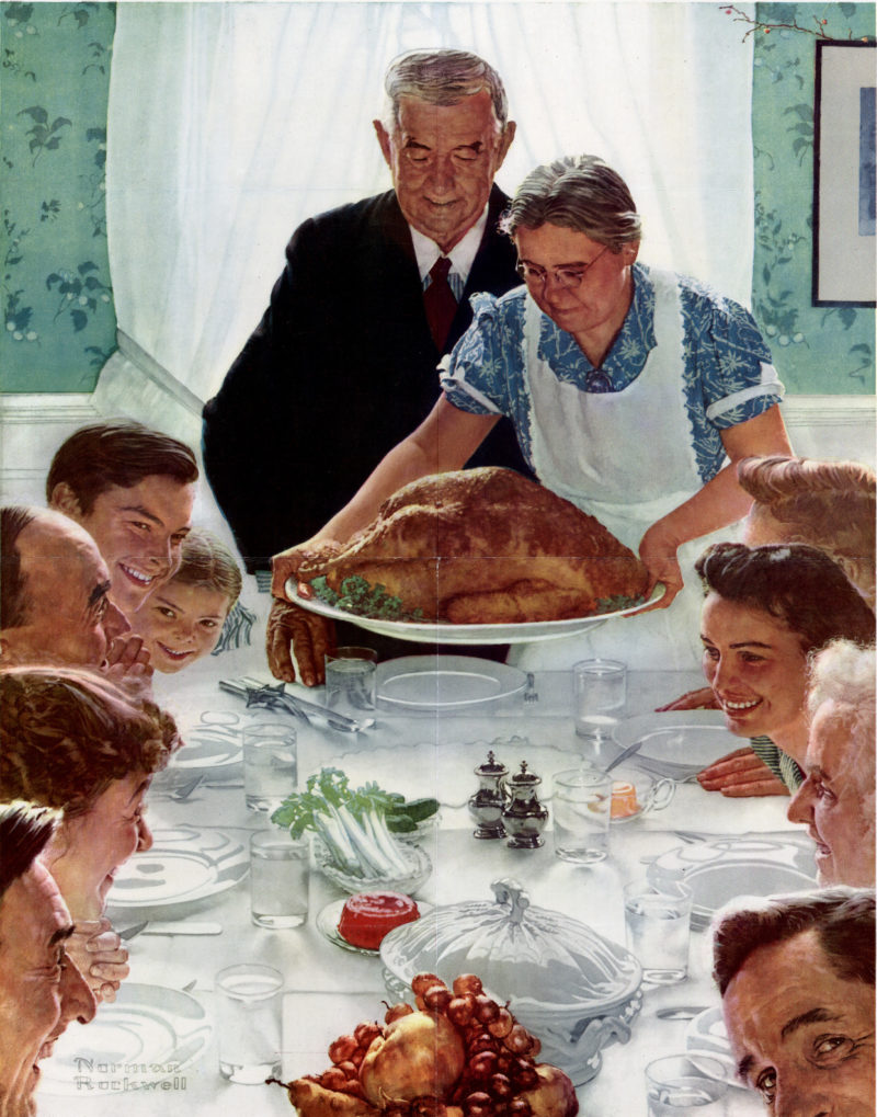 Rockwell depicted Thanksgiving Day
